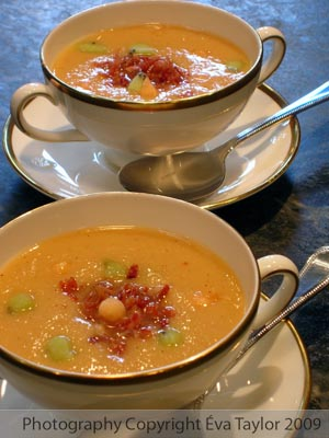 Chilled Melon Soup with Prosciutto