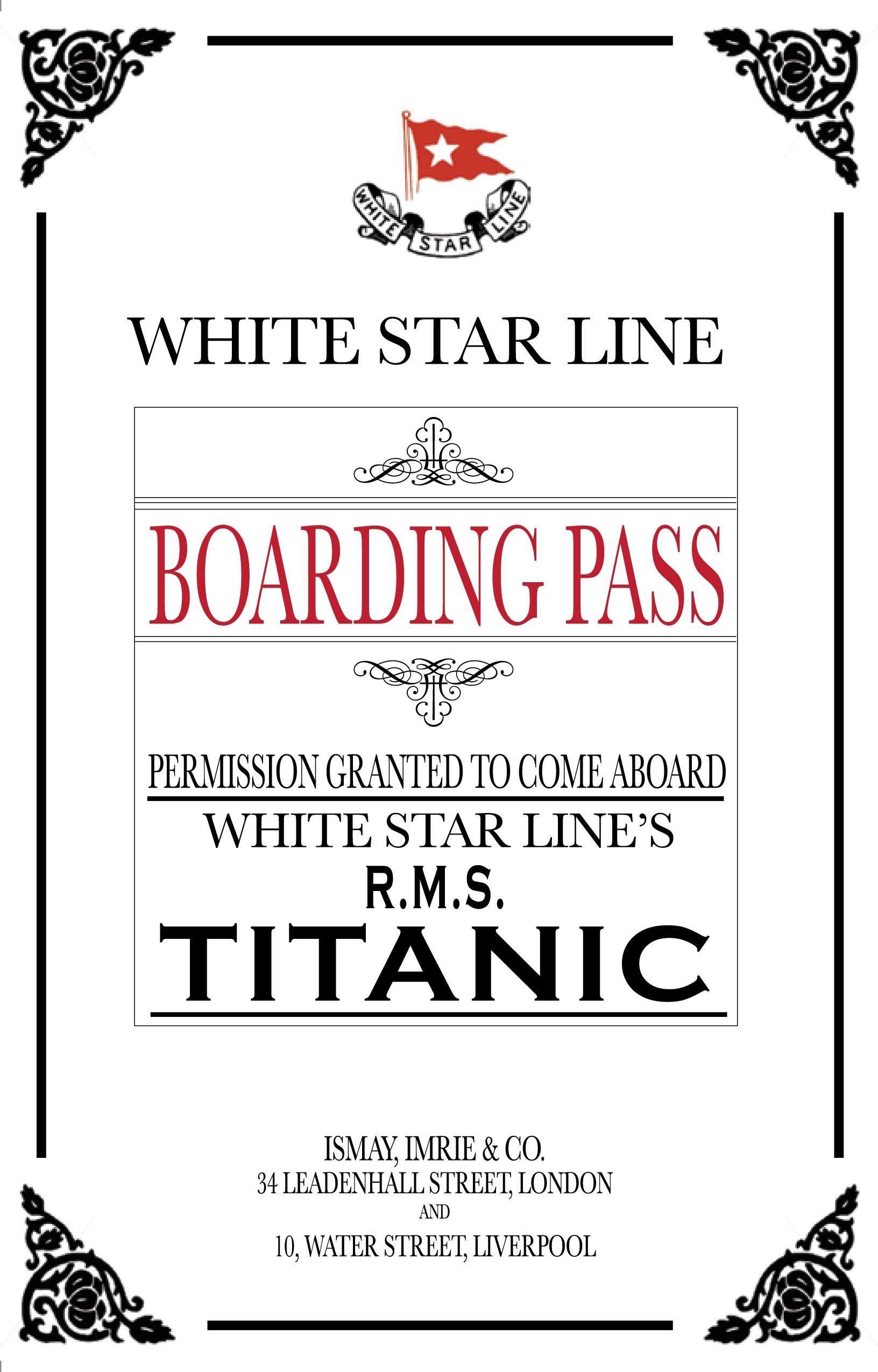 Titanic Dinner Party Invitations and Awards (yup, you read that