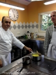 Chef Villard and JT examining the soup