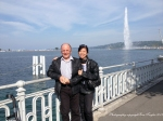 Our good friend Teddy and his partner Ji. We had a lovely day in Geneva