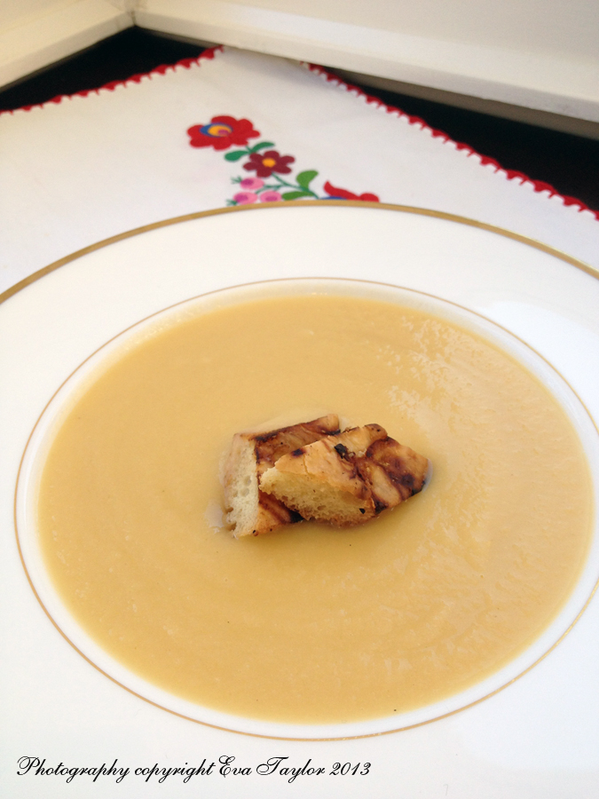 Celeriac velout or soup kitcheninspirations for Anthonys italian cuisine sacramento