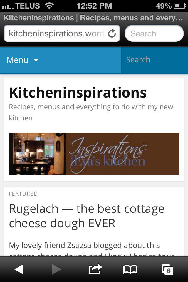 This is optimized for my mobile device. See how WordPress compacts everything so it's easy to navigate and read?
