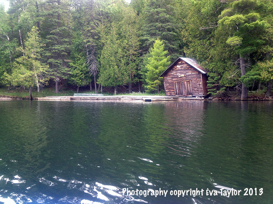 The old boathouse built by JTs grandfather in the late 1800's