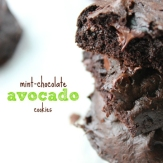 Mint Chocolate Avocado Cookies from Sneaks and Sweets