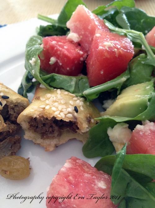 Empanada and salad1
