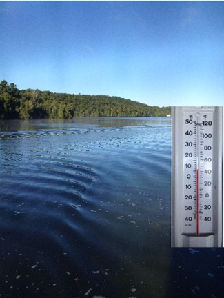 This past weekend was unseasonably cold at the lake.