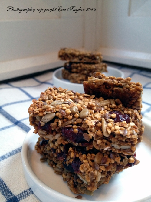 A delicately flavoured energy bar.