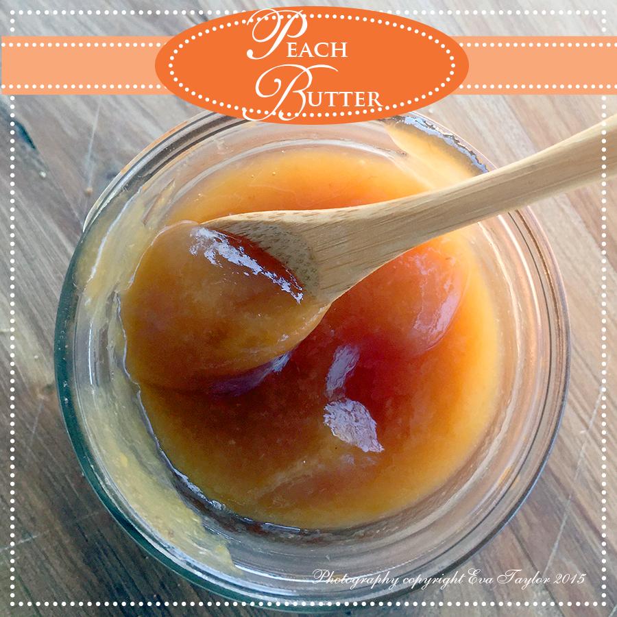 peach, butter, jam,